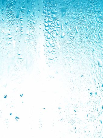 Light blue little water drops background Stock Photo - 5910273