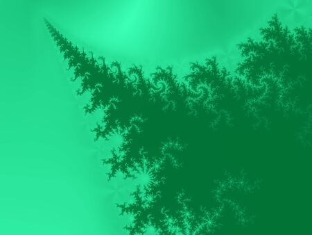 Green Christmas tree pine fractal background photo