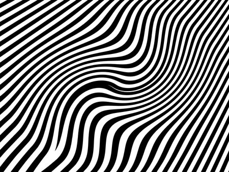 visual art: Zebra waves, animal striped background Stock Photo
