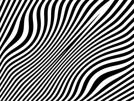 visual effect: Zebra waves, animal slimming down background Stock Photo