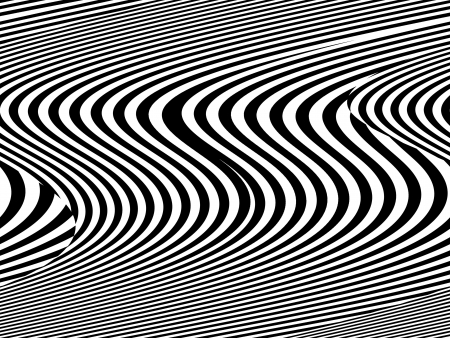 Black and white stripes and waves texture Stock Photo
