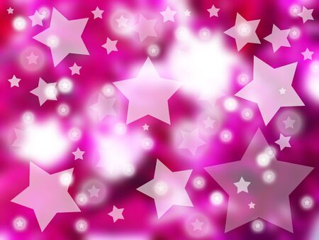 backgound: Star, stars, starred, starry, pink, backgound Stock Photo