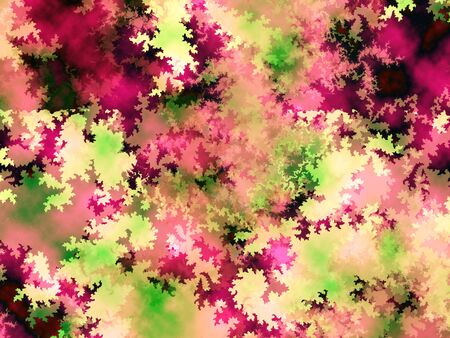 Red and green camouflage fractal Christmas background photo