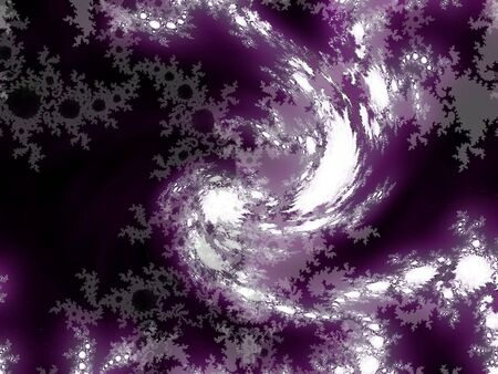 Dark violet, black and white abstract spiral fractal background Stock Photo - 6095957