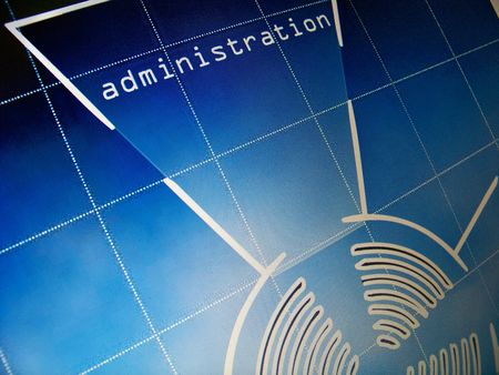 Digital design of a web page, administration Stock Photo - 6115526