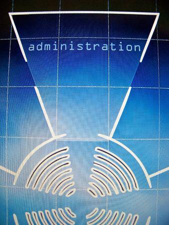 Administration area in web site design Stock Photo - 6115528