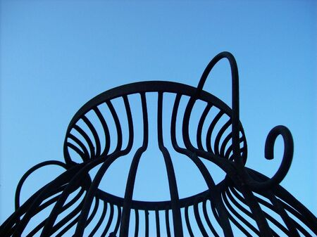 Wrought iron structure photo