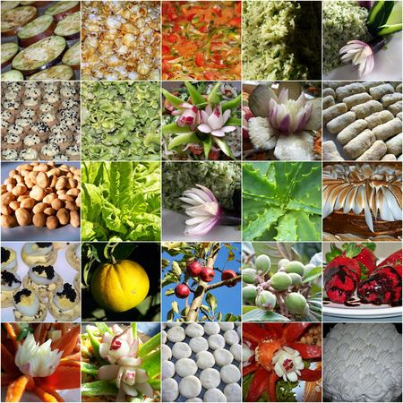 Various colourful food textures Stock Photo - 6331038