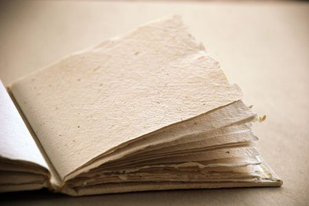 Ecological blank book in sepia Imagens