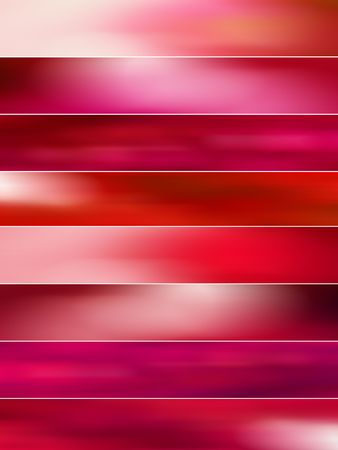 gloss banner: Red blurs banners background Stock Photo