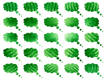 Green clouds balloons backgrounds Stock Photo - 9389889