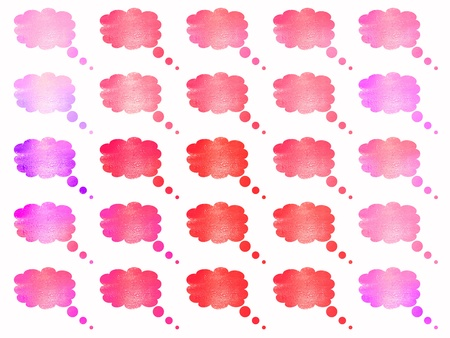 Isolated pink clouds balloons backgrounds Stock Photo - 9389909
