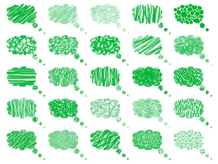 Pattern with patterns of green ideas balloons Stock Photo - 9403198