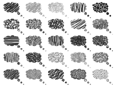 Pattern of isolated balloons with textures in black photo