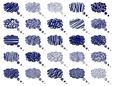 Marine blue dreams balloons textures Stock Photo - 9403200