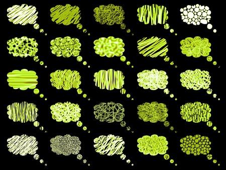 Fondos de eléctrica globos verdes fluorescentes Foto de archivo - 9421149
