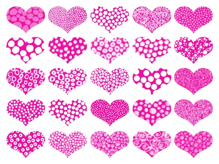 Pink textures hearts pattern background Stock Photo - 9427492