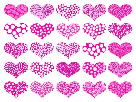 universal love: Rosa texturas de fondo de corazones Foto de archivo
