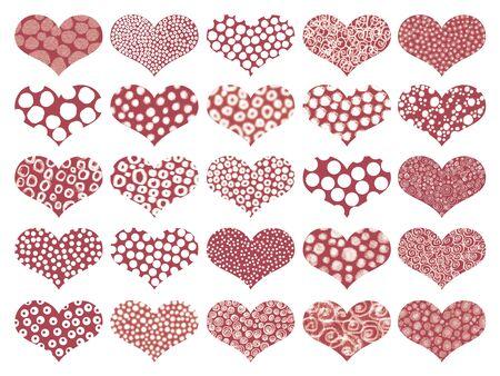naif: Romantic Valentine's hearts chocolates background