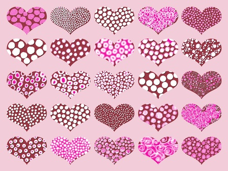 Sweet hearts chocolates pattern in pink Stock Photo - 9427493