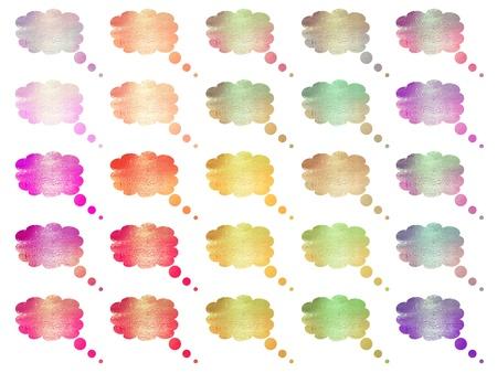 rains: Multicolored text bubbles balloons Stock Photo