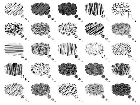 Blanco y negro sue�a con fondo de globos de burbujas Foto de archivo - 9449253