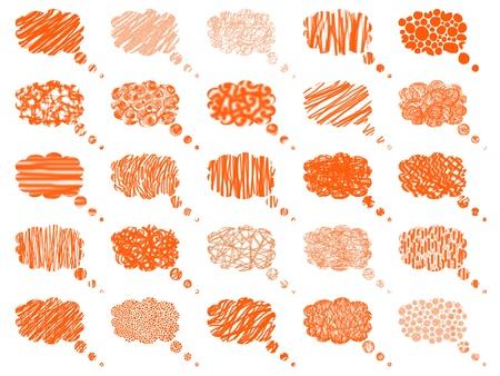 Orange isolated balloons pattern background photo