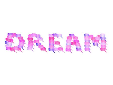 feels: Dream in pink wet clouds Stock Photo