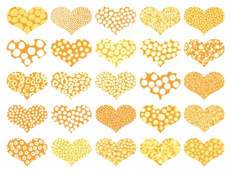 naif: Corn yellow Valentine's isolated hearts backgrounds
