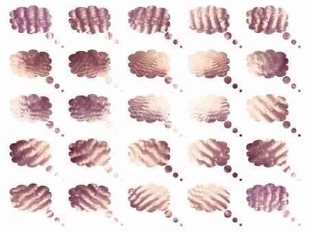 Nostalgic sepia clouds balloons pattern Stock Photo - 9577248