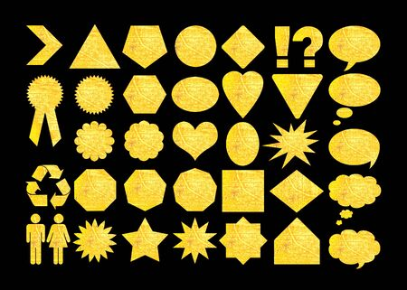 Basic design elements, gold shapes photo
