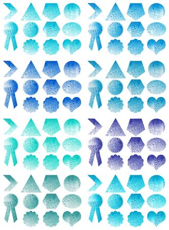 Blue set of labels shapes photo