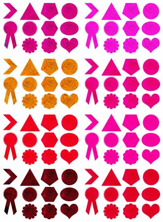Pink and red labels set Stock Photo - 11406486