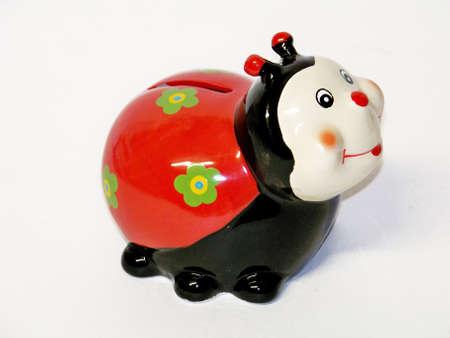 Colorful ladybug moneybox Stock Photo - 11406441