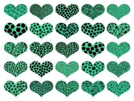 naif: Animalprint green hearts