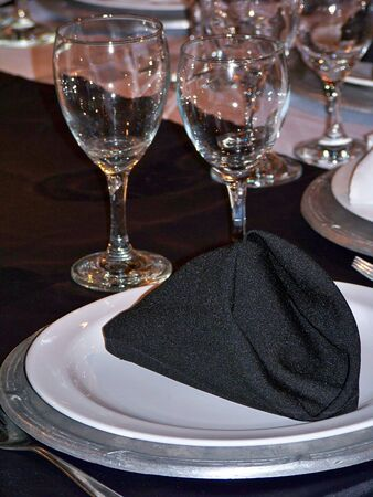 Black and white elegant celebration table photo
