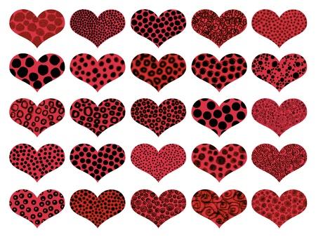 naif: Animalprint, animalprints, heart, hearts, animal print, animal prints, animals Stock Photo