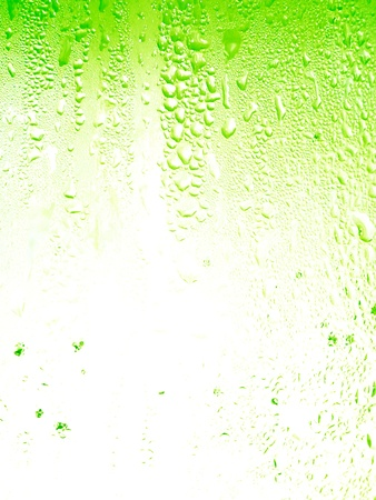 Lemon soda background with little drops texture Stock Photo