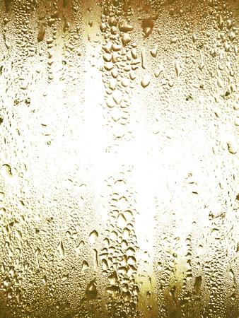 condensation: Superficie del vidrio en fr�o con la textura del agua de condensaci�n