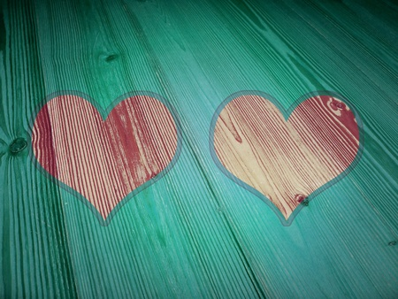 romaticism: Colored hearts frames for framing in romantic albums