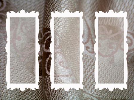 Elegant rectangular weding frames on silk Stock Photo - 11938565