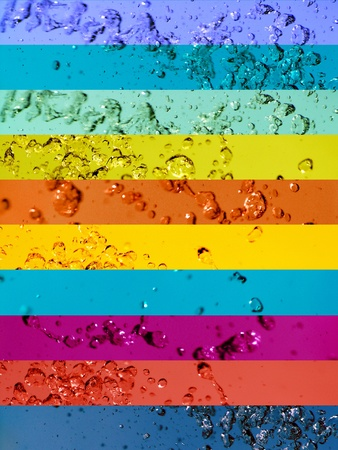 Colortherapy, colorful liquid water banners backgrounds Stock Photo