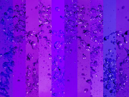 instrospection: Intense energized deep waters in purple background for transmutation or alchemy