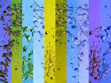 transmute: Claro banners aguas limpias y fondos de colores, azul y amarillo