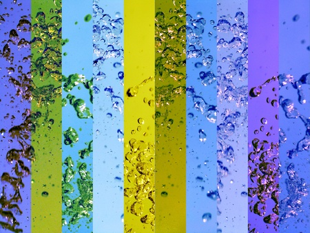Clear clean waters banners backgrounds in colours, blue and yellow photo
