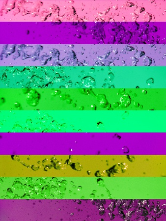 aurasoma: Juvenile contrast in green pink and violet for color light healing therapy Stock Photo