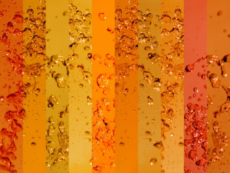 solarize: Orange and ambar waters backgrounds with drops splash