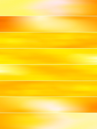 gloss banner: Brilliant sunny blurry yellow backgrounds
