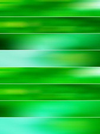 Green mist banners backgrounds in eight blur zones photo