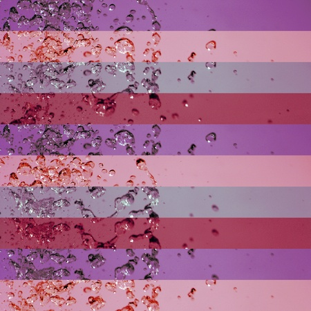 colortherapy: Oldish pink palette banners backgrounds with drops